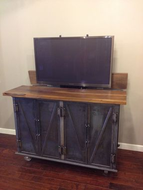 Custom Made Steel Coffin Media Console