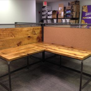 Reclaimed Wood Desks Barnwood Desks CustomMadecom - Reclaimed wood work table