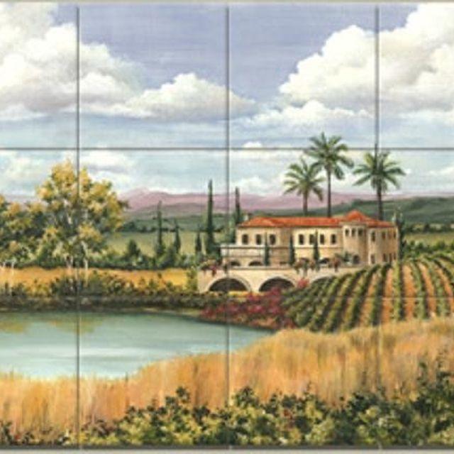 Custom Made Hand Painted Travertine Murals By Lomeli Tile Designers Inc Custommade Com