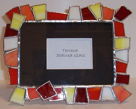 Custom Made Chunky Stained Glass Picture Frame - Bright & Contemporary (F-9)
