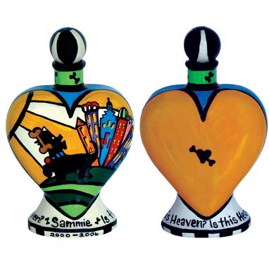 Custom Made Is This Heaven Dog Heart Vase Urn