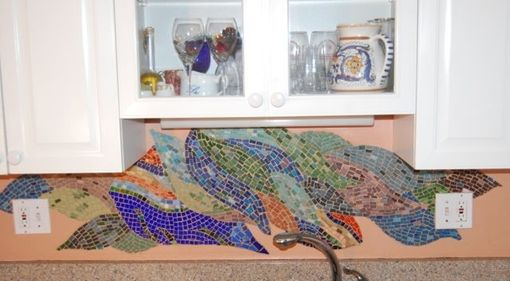 Custom Made Mosaic Kitchen Backsplash