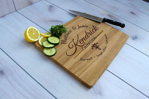 Custom Made Personalized Cutting Board, Engraved Cutting Board, Custom Wedding Gift – Cb-Wo-Kendrick