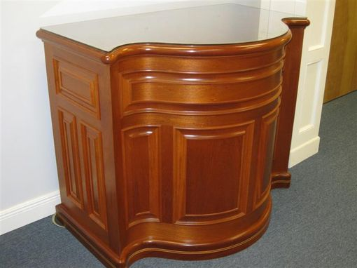 Custom Made Solid Genuine Mahogany Podium