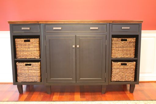 Custom Made Solid Maple Basket Credenza