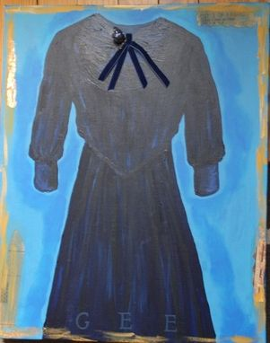 Custom Made Wedding Dress Painting -- Commission