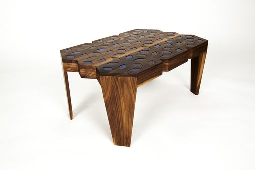 Custom Made Walnut Kaleidoscope Coffee Table