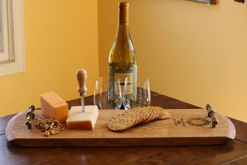 Custom Made Wine Barrel Head Half Serving Tray