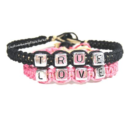 Custom Made True Love Couples Bracelets
