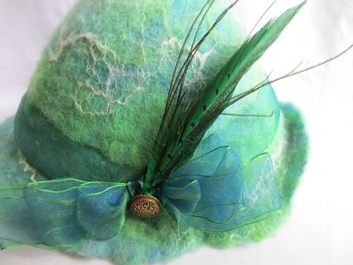 Custom Made One Of A Kind Wet Felted 1920'S Style Hat