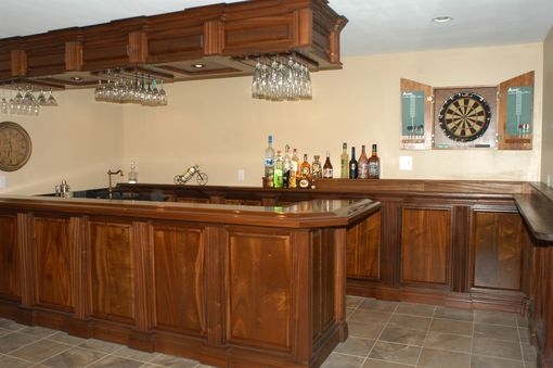 Custom Made Custom Mahogany Bar