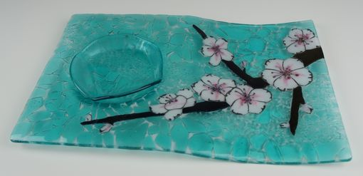 Custom Made Blossom Branch B - Serving Tray With Bowl