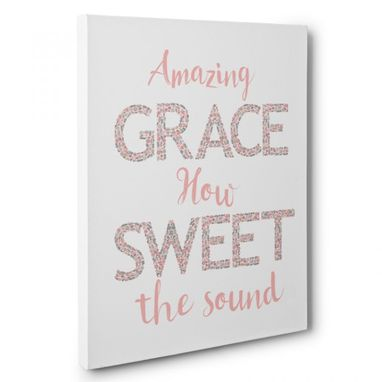Custom Made Amazing Grace Canvas Wall Art