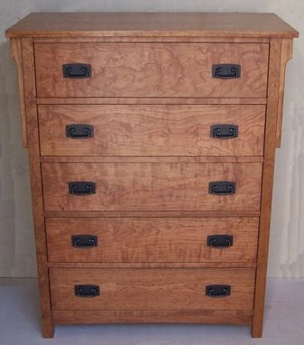 Custom Made Cherry High Boy Dresser