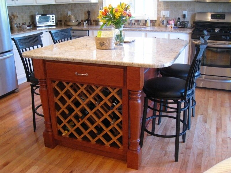 Hand Made Kitchen Island Cherry By Fine Wood Crafting