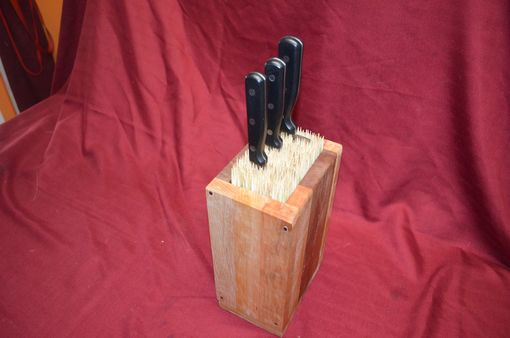 Custom Made Knife - Sword - Tool Block Universal Kitchen Storage With Hand Cut Nails