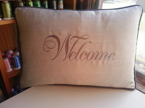 Custom Made Welcome Pillows