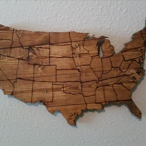 Wood Usa Wall Map Regional pride gifts. Gifts ideas for those who love their city