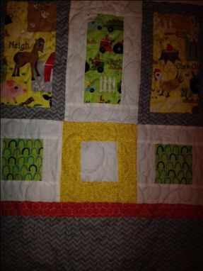 Custom Made Modern Crib Quilt