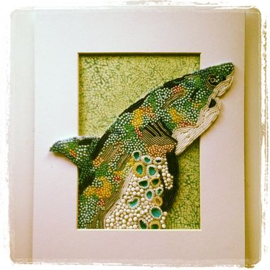 Custom Made Seed Bead Embroidered Shark