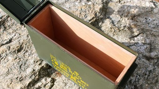 Custom Made Ammodor .30 Cal Ammo Can Cigar Humidor: The 30 Deluxe