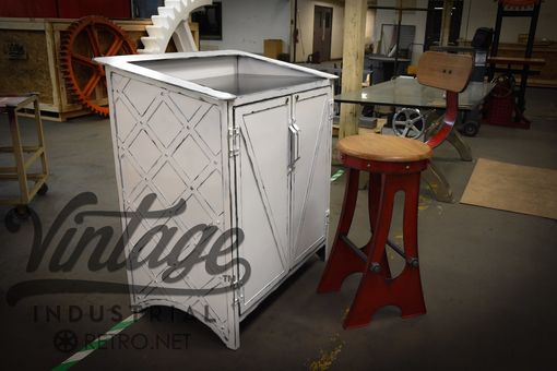 Custom Made French Industrial Hostess Stand