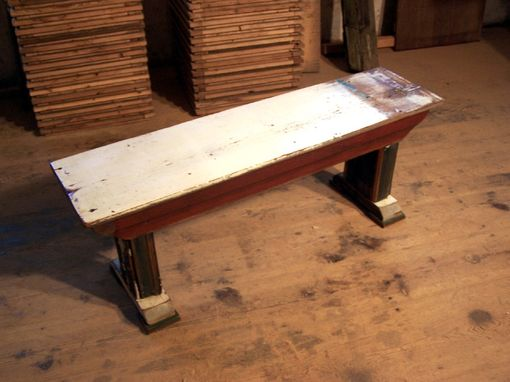 Custom Made Shabby Chic Chippy Paint Bench From Reclaimed Barn Wood