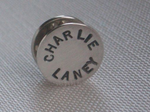 Custom Made Sterling Silver Personalized Tie Tack