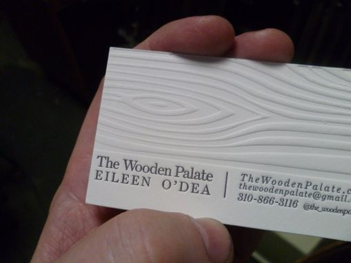 Custom Made Letterpress Printed Business Card