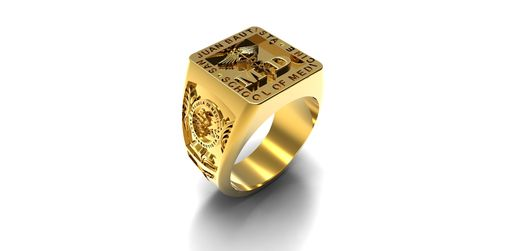 Custom Made Men's Custom Signet Ring