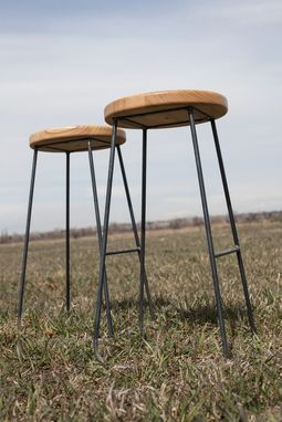 Custom Made Log Top Bar Stools