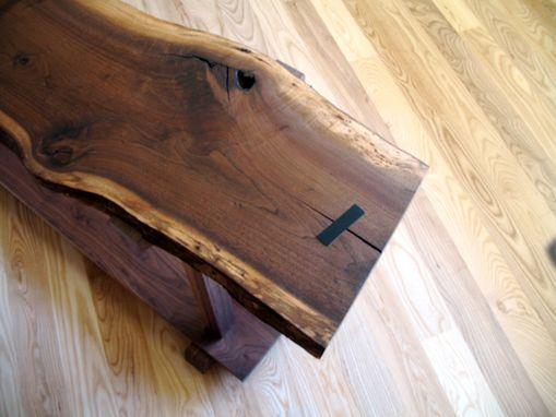 Funky Hall Tables custom funky walnut slab hall table3 sticks design