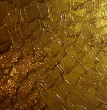 Custom Made Gold Abstract Original Painting Sale 22% Off