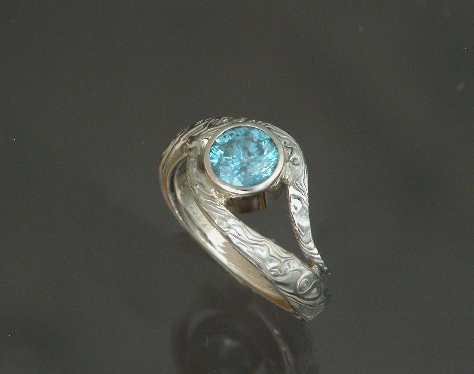 Band Inspiration Custom Made Moe Gane 14kt Palladium White Gold With 1 03ct Blue Diamond Wedding Set