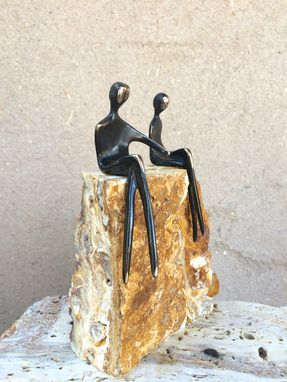 Custom Made Bronze Lovers Sculpture