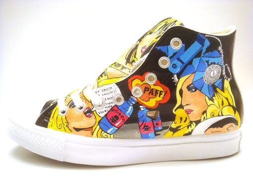 Custom Made Lady Gaga Converse (Hand Painted)