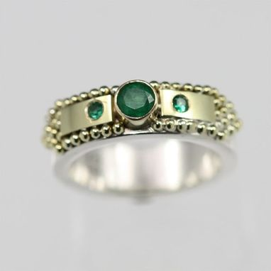 Custom Made Medieval Ring 14k (Emerald) Size 5