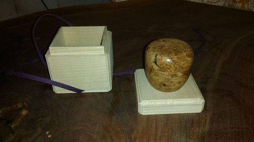 Custom Made Maple Burl Container With Pawlonia Box