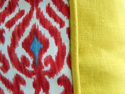 Custom Made Red And Citron Pillow