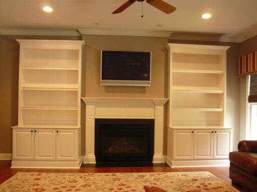 Hand Crafted Traditional Painted Fireplace Built Ins By