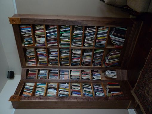 Custom Made Bookcase With Angled Corner Unit