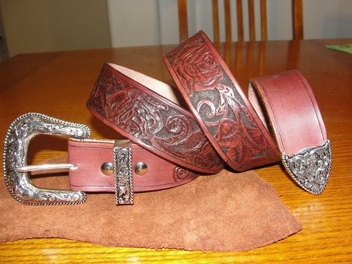 Custom Made 100% Premium Oak Leaf Leather Men's Belt