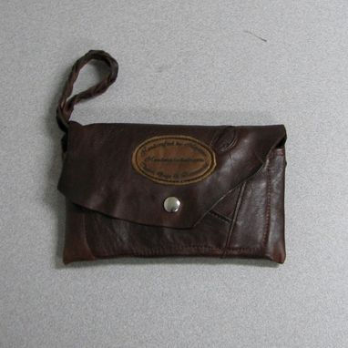 Custom Made Wrist Wallet-Rustic Brown Leather