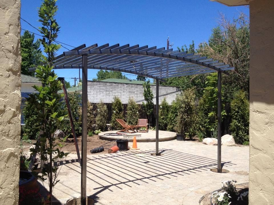 Handmade Arched Steel Trellis By Steel It Inc