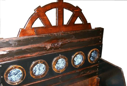 Handmade Pirate Ship Twin Bed By Sonoran Sandman