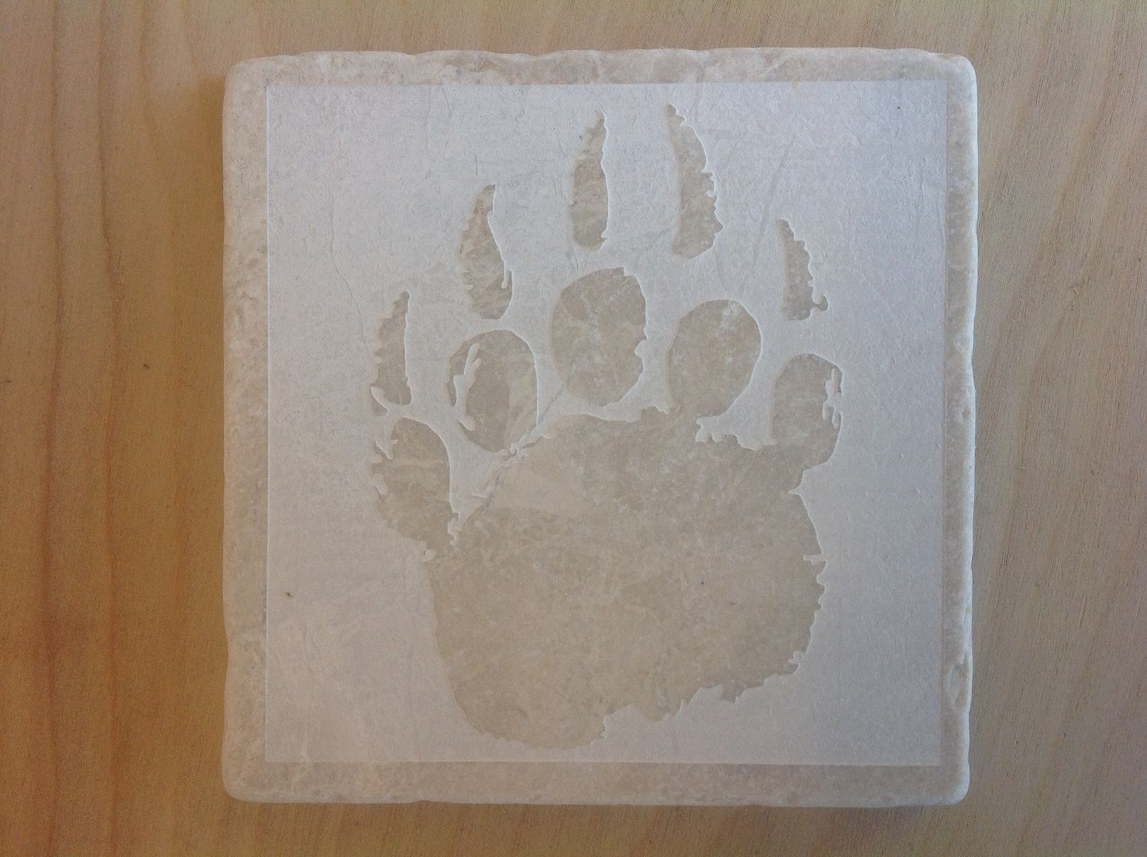 Travertine Tile Drink Coasters
