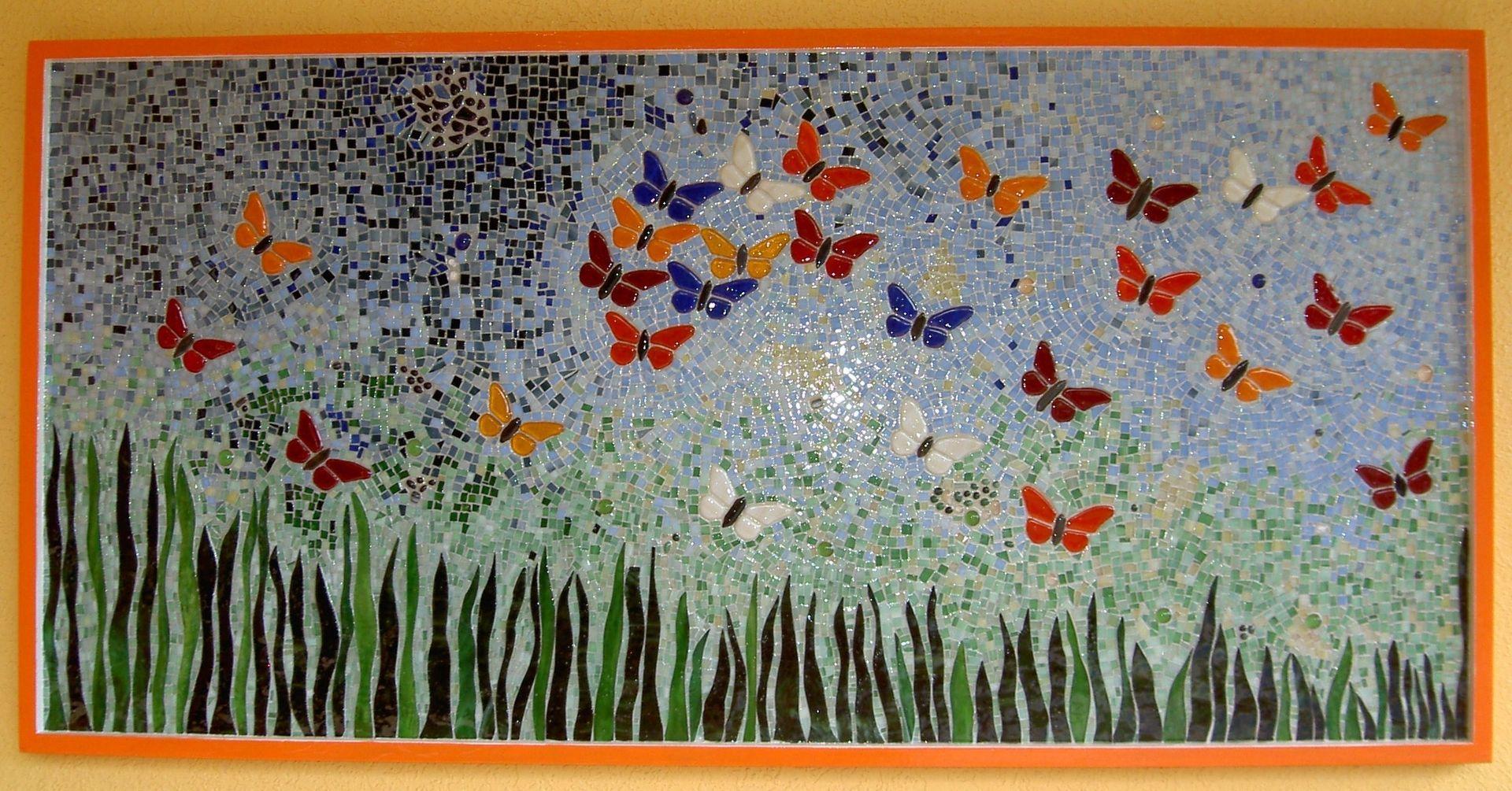 Custom Made Wall Decor Erfly Mosaic I