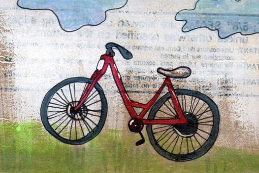 Custom Made Bike Art Print Red Bike Is Red