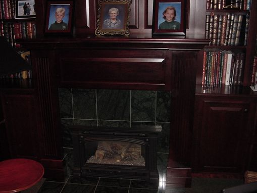 Custom Made Cherry Library Mantel