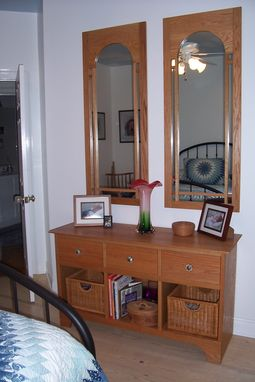 Custom Made Hutch And Mirrors